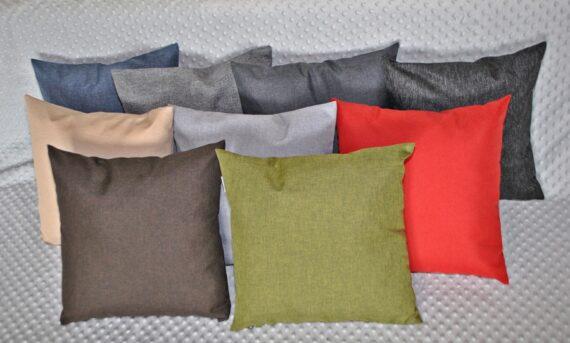 """Poduszki dekoracyjne """"jaśki"""" 40x40, tkanina wodoodporna, 9 kolorów."""